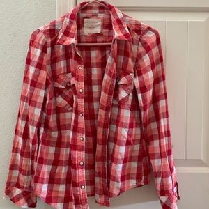 Pearl snap flannel